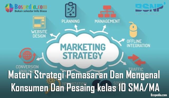 Materi Strategi Pemasaran Dan Mengenal  Konsumen Dan Pesaing Mapel Prakarya kelas 10 SMA/MA