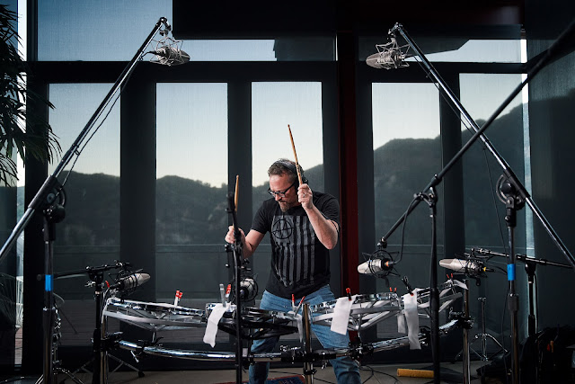 Charlie Clouser Composer playing drums for HAMMERS SPITFIRE AUDIO