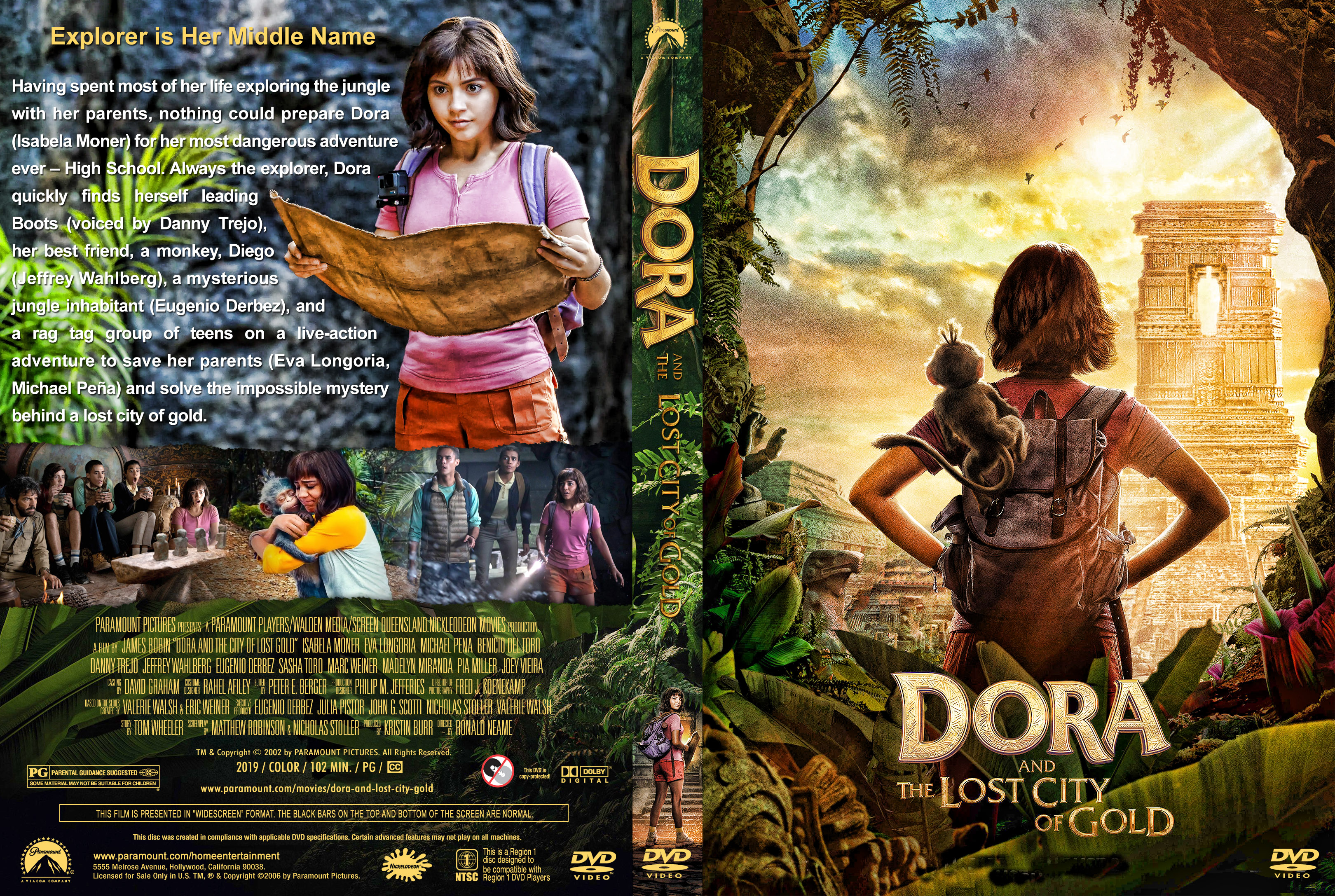 Dora and the Lost City of Gold DVD Cover | Cover Addict ...