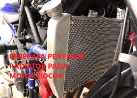 Beberapa Penyebab Radiator Pada  Motor Bocor
