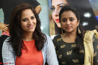 Actress Suma in Black Salwar Suit and Anusuya in orange Dress at winner movie press meet part 2 February 2017 (78).JPG