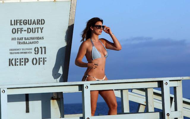 Ferne McCann in Bikini on the beach in Los Angeles