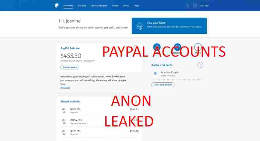 100+ free paypal accounts with username and password and money on them