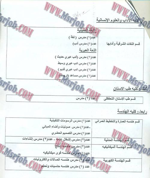 وظائف جامعة قناة السويس - اعلان رقم 1 لسنة 2017 منشور بالاهرام