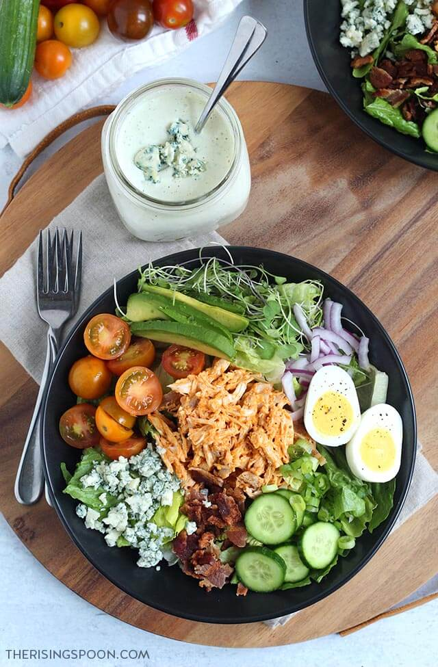 Homemade Blue Cheese Dressing For Cobb Salad