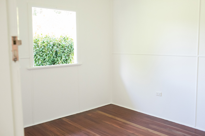 finished white bedroom