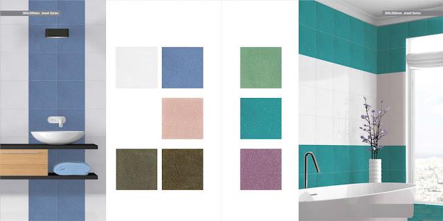 Light Blue Tiles for Bathroom