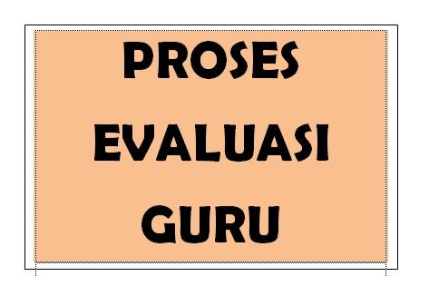 Proses evaluasi guru di sekolah