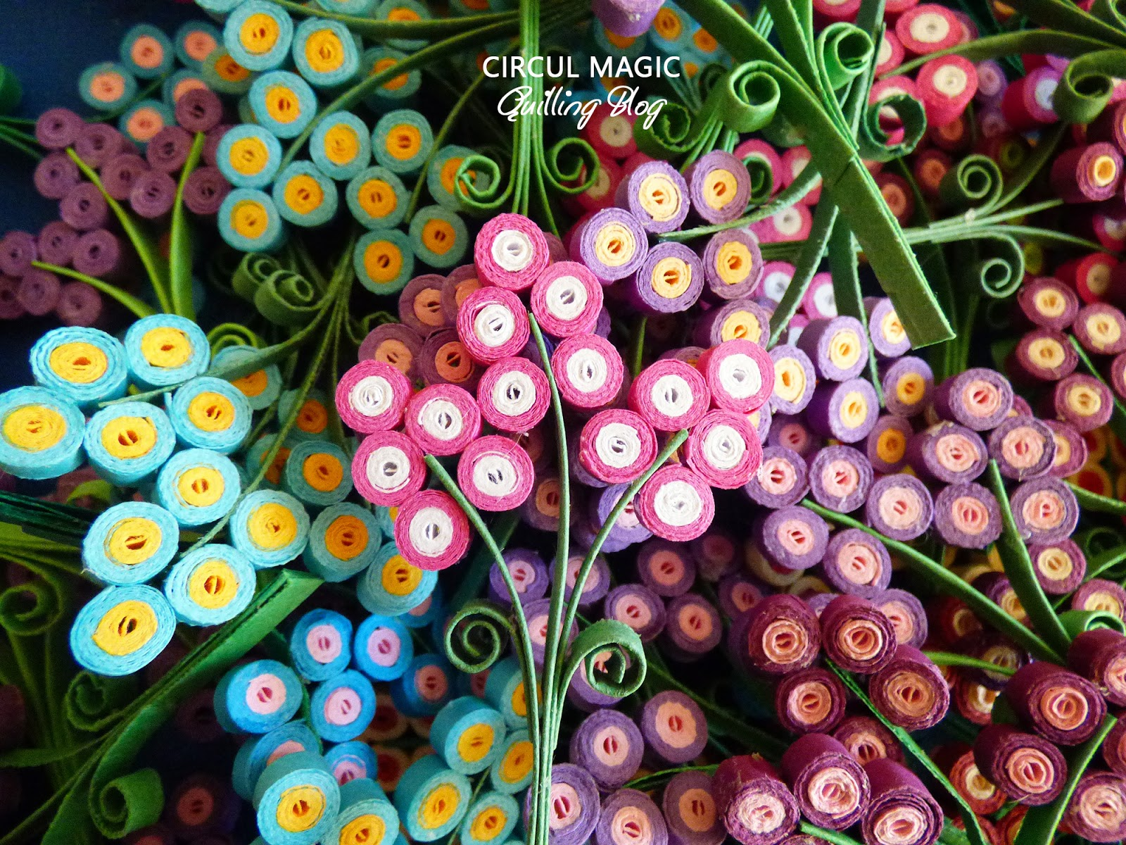 Martisoare Quilling 2017 Flori de Lavanda Circul Magic