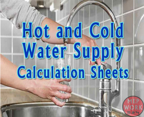 Plumbing, Calculations, Excel Sheets, xls, Hot Water, Cold Water,