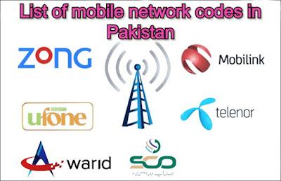 All Network Sim Codes List Jazz,Zong,Warid,Ufone &Telenor