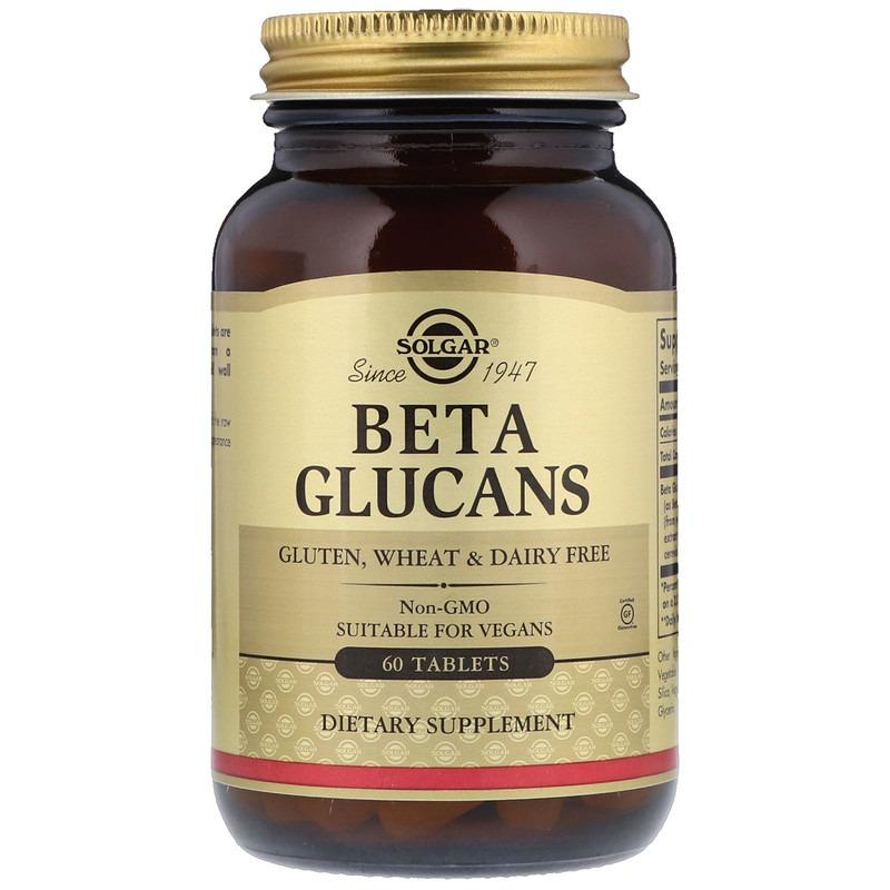 Solgar, Beta Glucans, 60 таблеток
