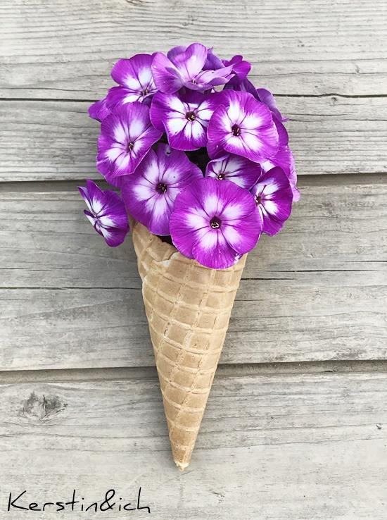 Blumen Deko Eiswaffel Einschulung Tischdeko Blumendekoration