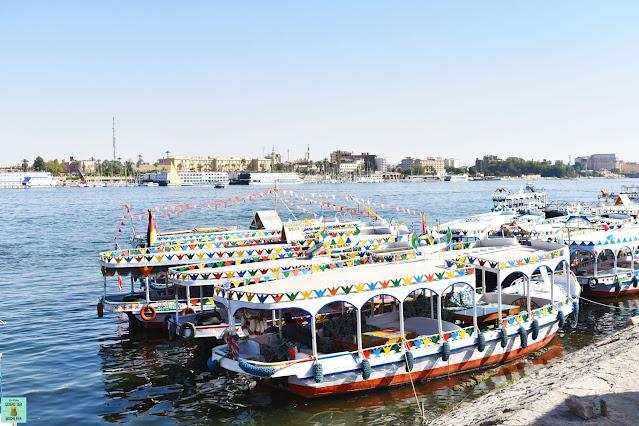 Barcaza en Luxor, Egipto