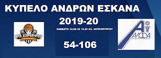 Πρεμιέρα στην σεζόν με αγώνα Κυπέλου ανδρών -Θρία Ασπροπύργου -ΑΛΦ Αλίμου 54-106