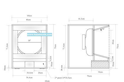 skema kotak speaker 18inch horn terbaru suara nendang banget..! low mid