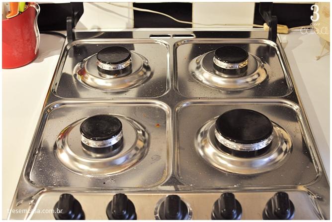 misturinha para limpar fogão caseira