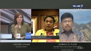 Najwa Sukses Bikin Menkominfo Emosi dan Wakil Ketua DPR Tersudut Atas Pernyataannya Sendiri