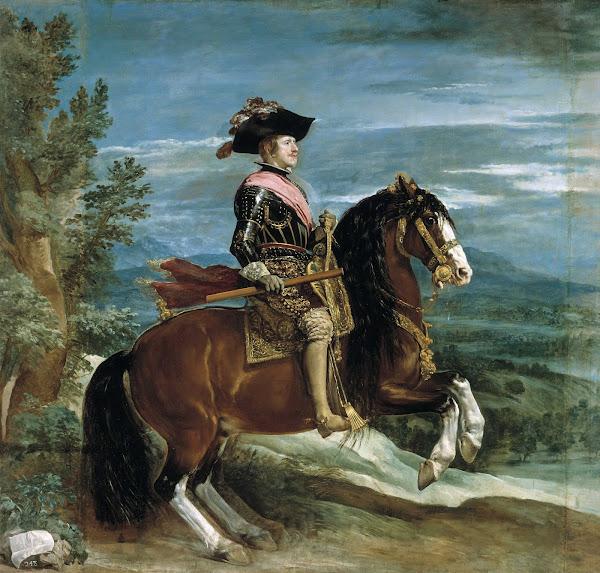 Диего Веласкес - Конный портрет Филиппа IV (1631-1636)