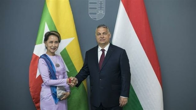 Myanmar's de facto leader Aung San Suu Kyi and Hungarian Prime Minister Viktor Orban, lament 'growing Muslim populations'
