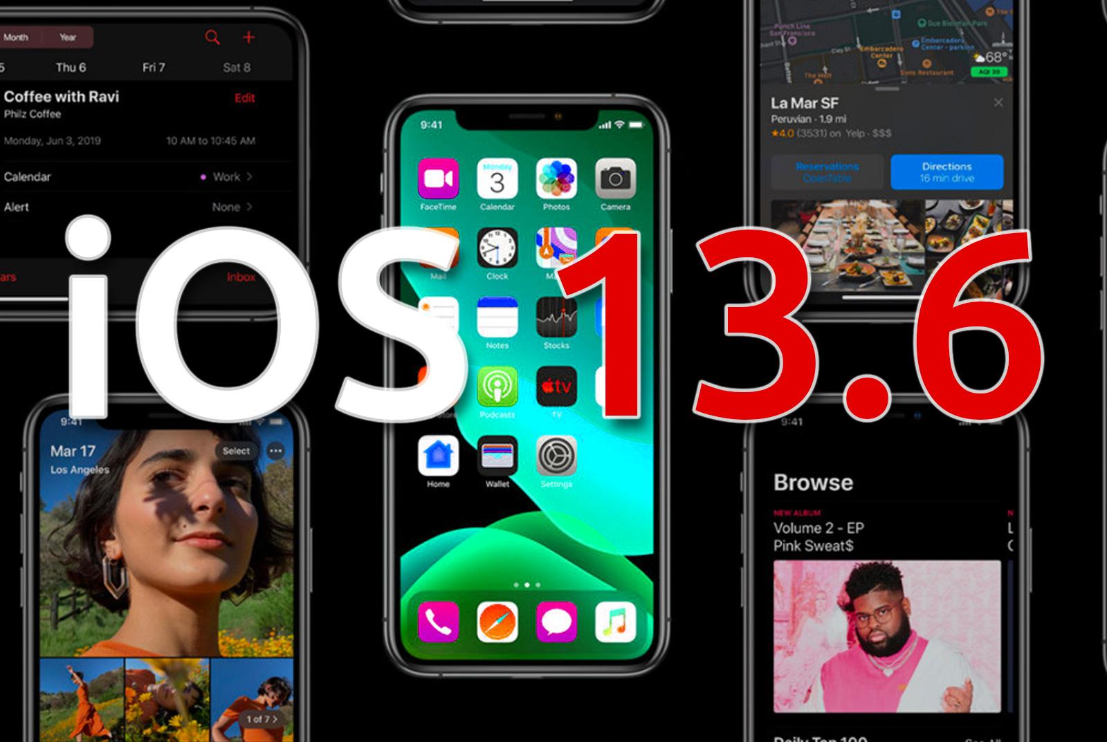 تحديث iOS 13.6 تحميل مباشر