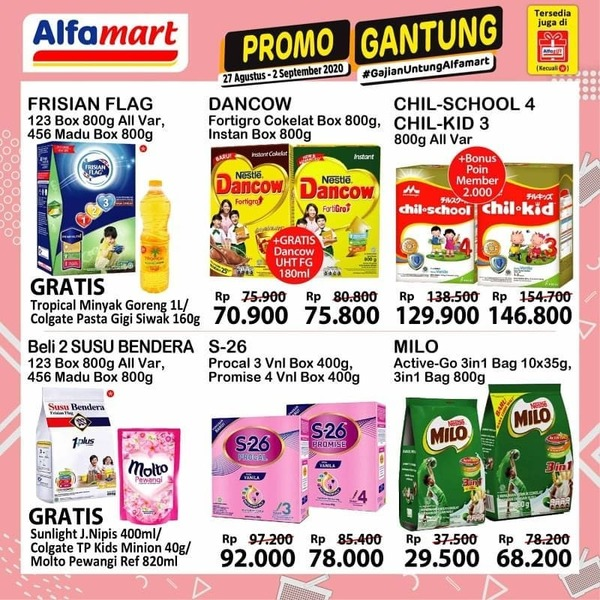 Katalog promo JSM Alfamart periode 28-30 Agustus 2020