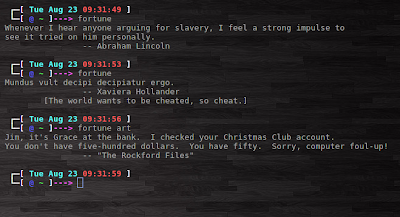 fortune linux terminal