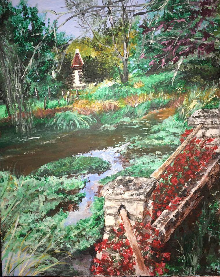 peinture de Vieux-Mareuil, oeuvre de Karine Babel