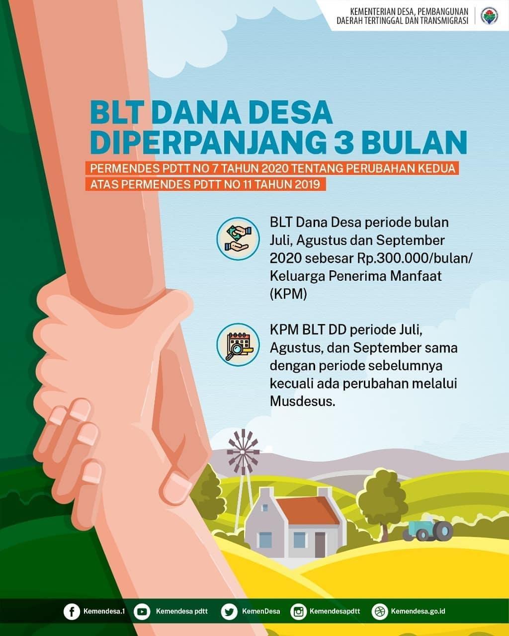 Mendes PDTT Rilis Aturan Terbaru Tentang BLT Dana Desa  Mendes PDTT Rilis Aturan Terbaru Tentang BLT Dana Desa