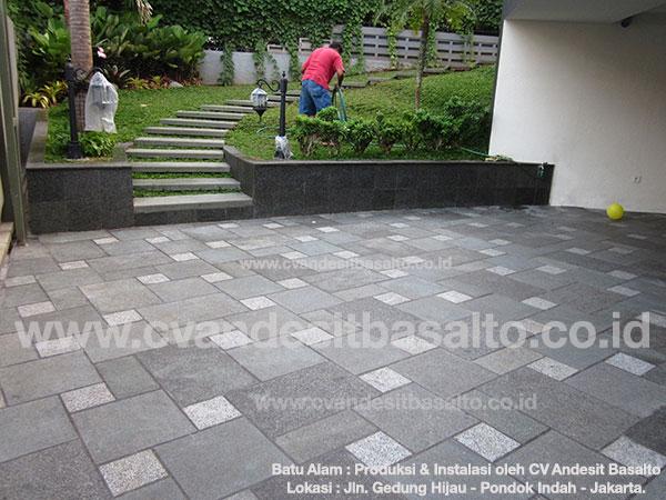 Batu Alam untuk Lantai | Teras, Carport, Halaman, Outdoor, Tangga