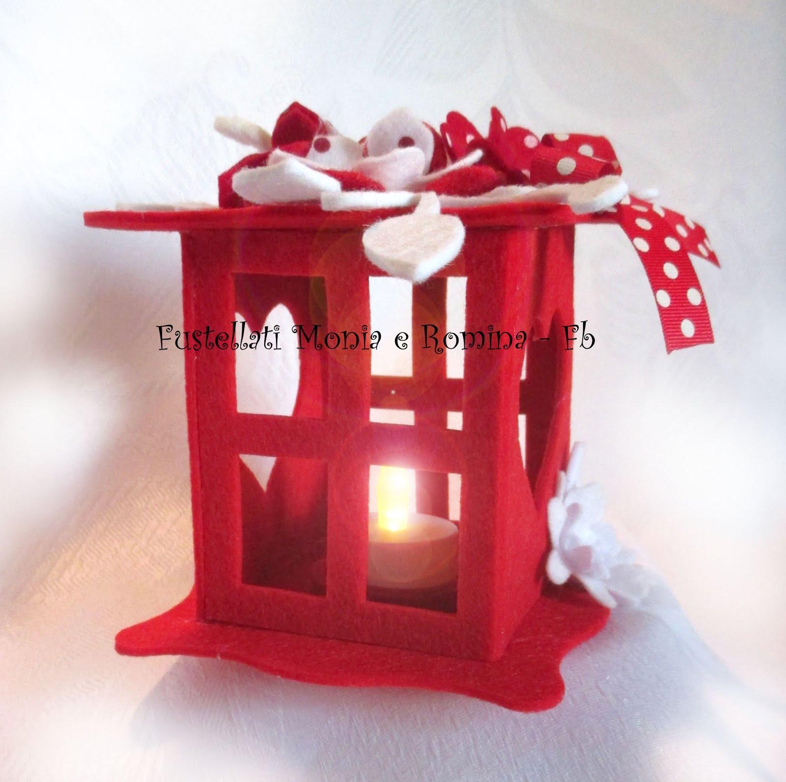 Favoloso Lanterna natalizia fai da te, decorazione in feltro, idea regalo  YZ11