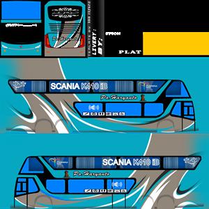 Livery Bussid PO Haryanto Biru Laut SDD Bimasena Double Decker