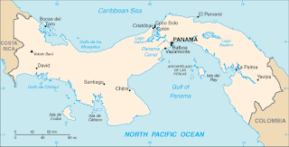 map of the panama isthmus