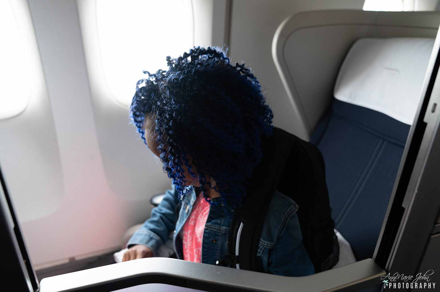 Child in Airline Seat