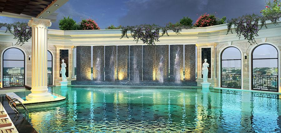 Bể bơi hạng sang tại chung cư Vinhomes D'. Capitale Trần Duy Hưng