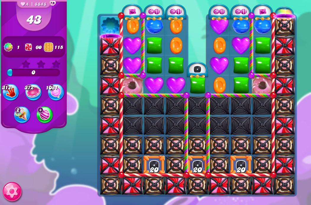 Candy Crush Saga level 8848