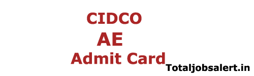 CIDCO AE Admit Card