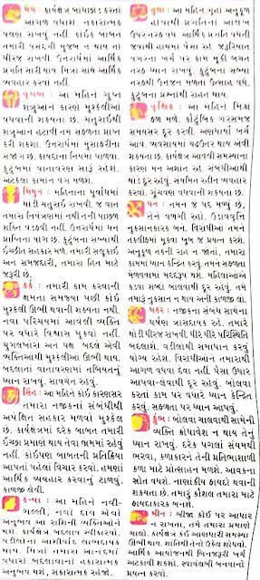August - Gujarati Rashifal and Rashi Bhavishya 2021