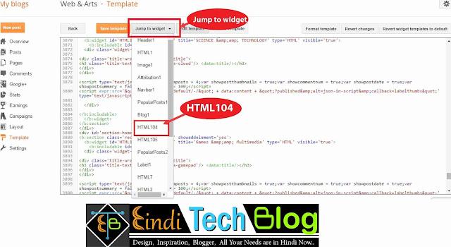 screenshot of html editor