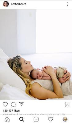 Amber Heard Baby Oonagh Paige Heard