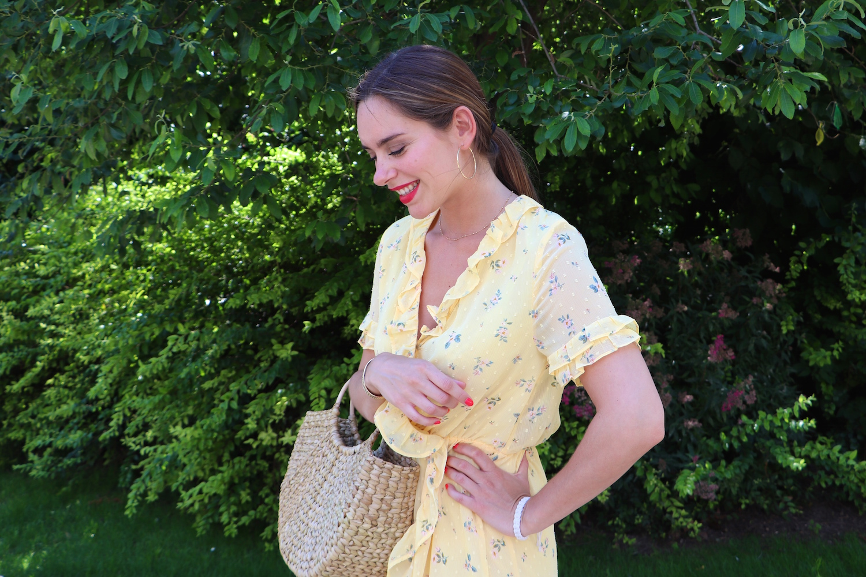 robe jaune fleurie h&m 4