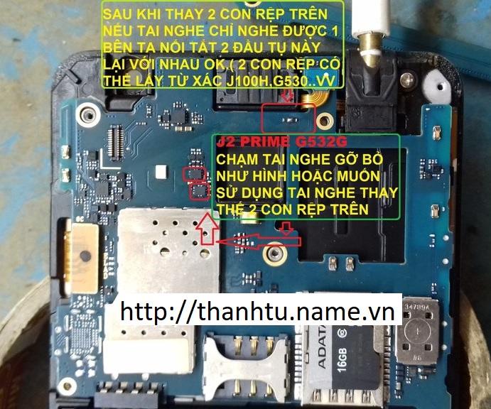 Samsung J2 Prime - G532 chạm tai nghe