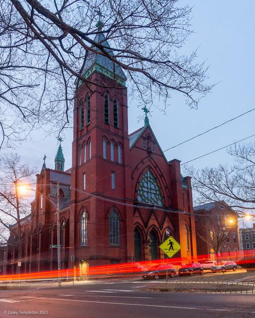 Portland Maine March 2021. Maine Irish Heritage Center St. Dominics church. Photo by Corey Templeton.