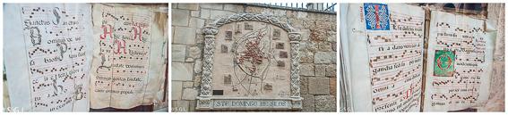 Libros de canto gregoriano y el claustro de Santo Domingo de Silos