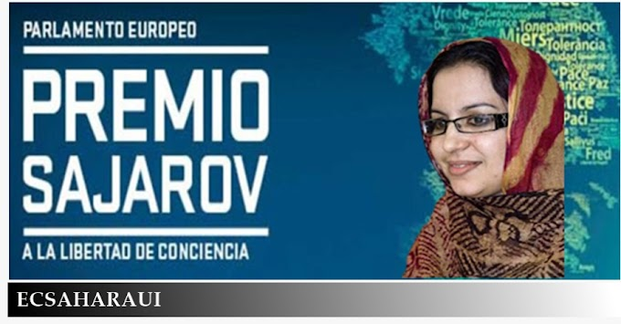 La activista saharaui Sultana Jaya, candidata al premio Sajarov del Parlamento Europeo.