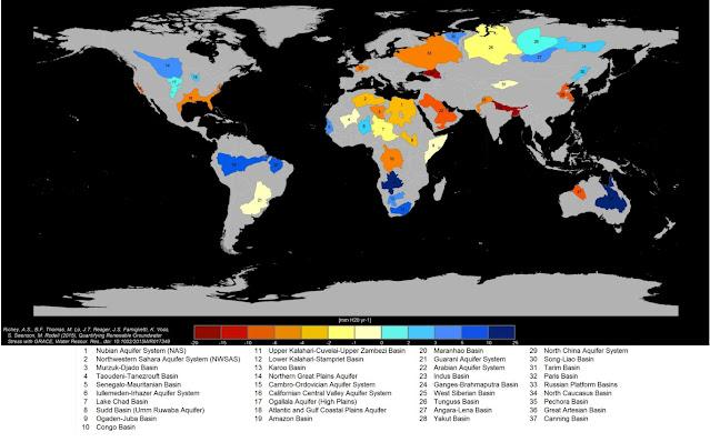 Aquíferos ao redor do mundo