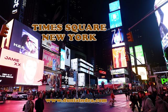 duniaindra, indra pradya jalan jalan ke Times Square New York