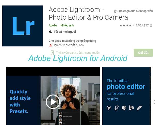 Download Adobe Lightroom và cài đặt full vĩnh viễn mới nhất 2021 a