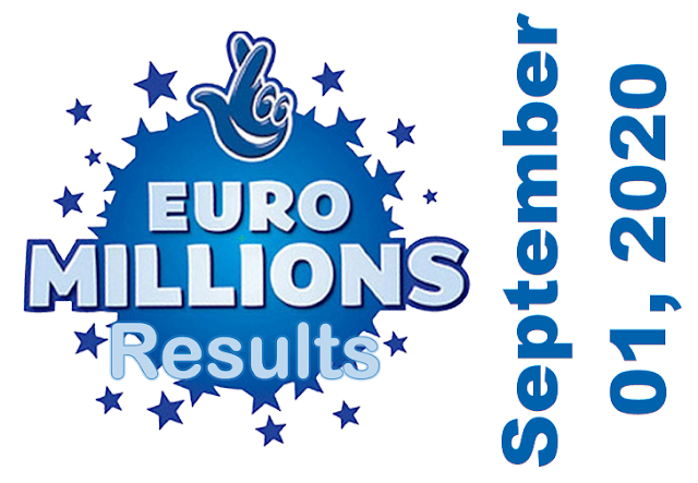 EuroMillions Results for Tuesday, September 01, 2020