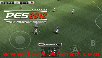 تحميل لعبة pes 2012 apk  للاندرويد كاملة برابط مباشر و بحجم صغير من ميديا فاير
